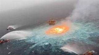 મેક્સિકોના દરિયામાં અચાનક આગ ફાટી નીકળી : સર્જાયું અદભૂત દ્રશ્ય; જુઓ વિડીયો